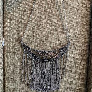 Statement necklace silver antique